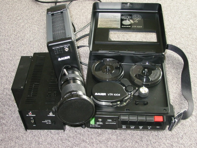 Bauer Video VTR-1004 1/4 portapack VTR and Camera