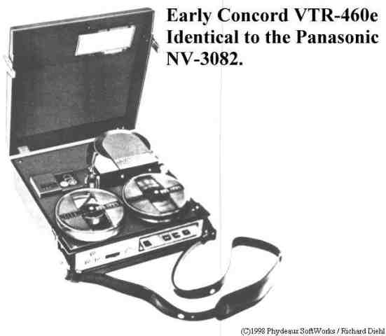 Concord VTR-460e video portapack.